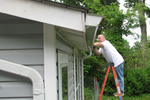 Cleaning gutters and inspecting roofs are both good ideas after winter ends.