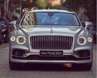 The Flying Spur was among the vehicles featured at the Bentley Motors centenary celebration in New York.