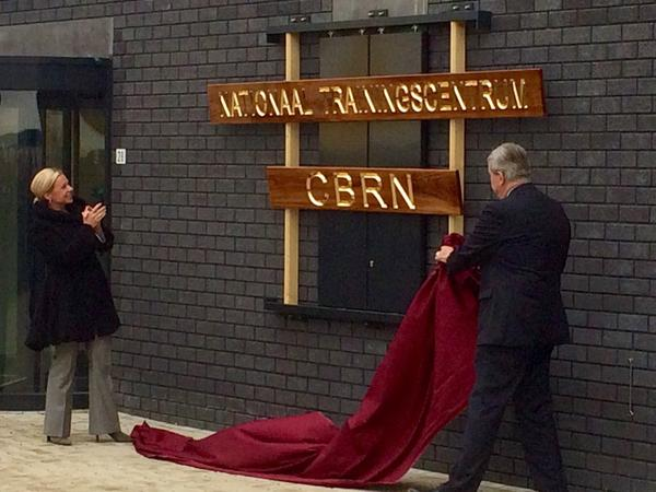 Officials on Friday unveil a new chemical, biological, radiological and nuclear (CBRN) training facility in Vught, the Netherlands.