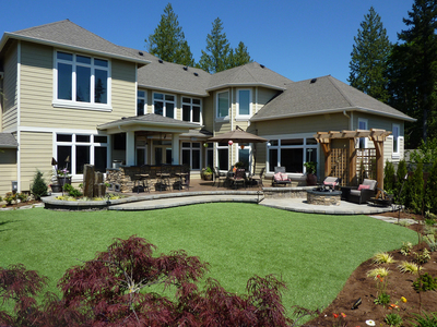 Synthetic lawns are becoming a popular, low-maintenance alternative to grass.