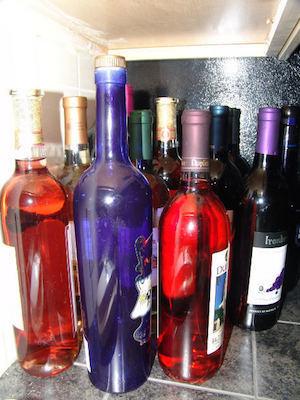 Liquor bottles colorful