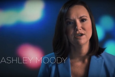 Republican Ashley Moody in a campaign ad for her bid to become Florida Attorney General
