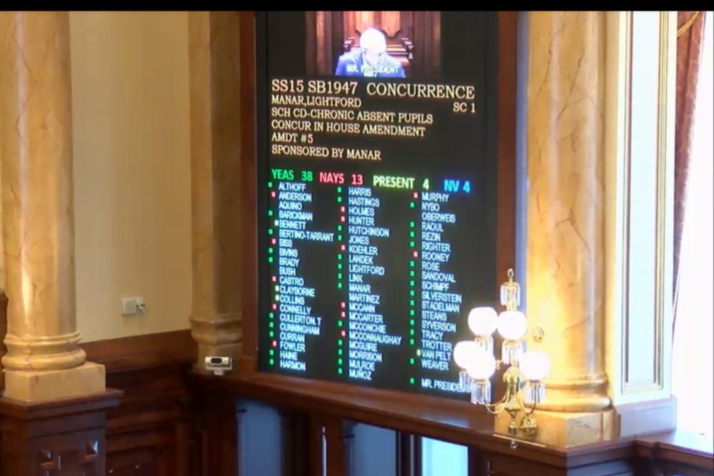 Illinois Senate's vote on SB1947
