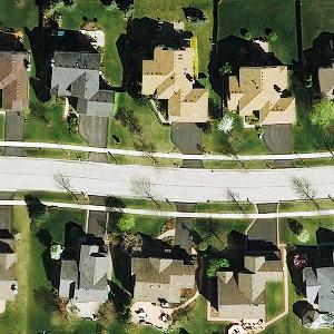 Medium lake cty subdivision aerial