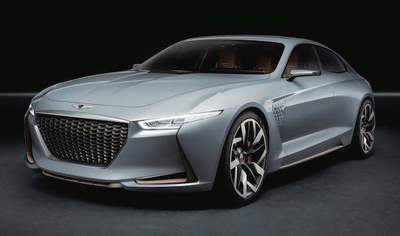 The new Genesis G70 will take its styling cues from this concept model and will arrive about a year from now.