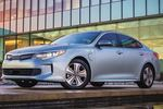 The plug-in hybrid Optima is part of Kia's strategy to improve its fleet fuel economy by 25 percent.