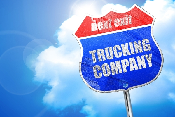 Large truck company sign