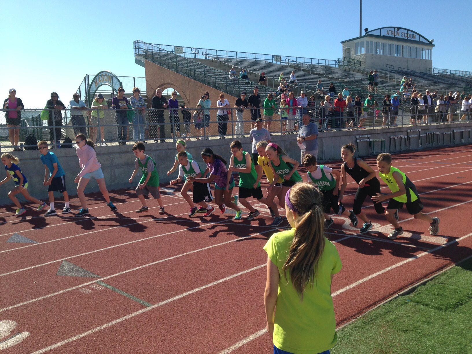 Almost 100 participants competed at Hershey's National Track and Field program local qualifier at Mason High School track on June 14.