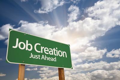 Medium job creation sign