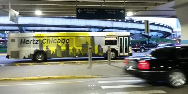 Large hertz bus chicago