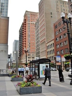 Large chicago street walking