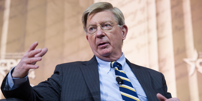 George Will speaks at the Conservative Political Action Conference (Christopher Halloran / Shutterstock.com).