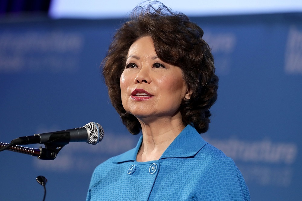 Elaine Chao spoke at CES 2018.