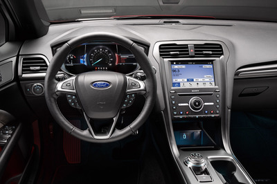 The interior dash is designed always to keep the driver in control.