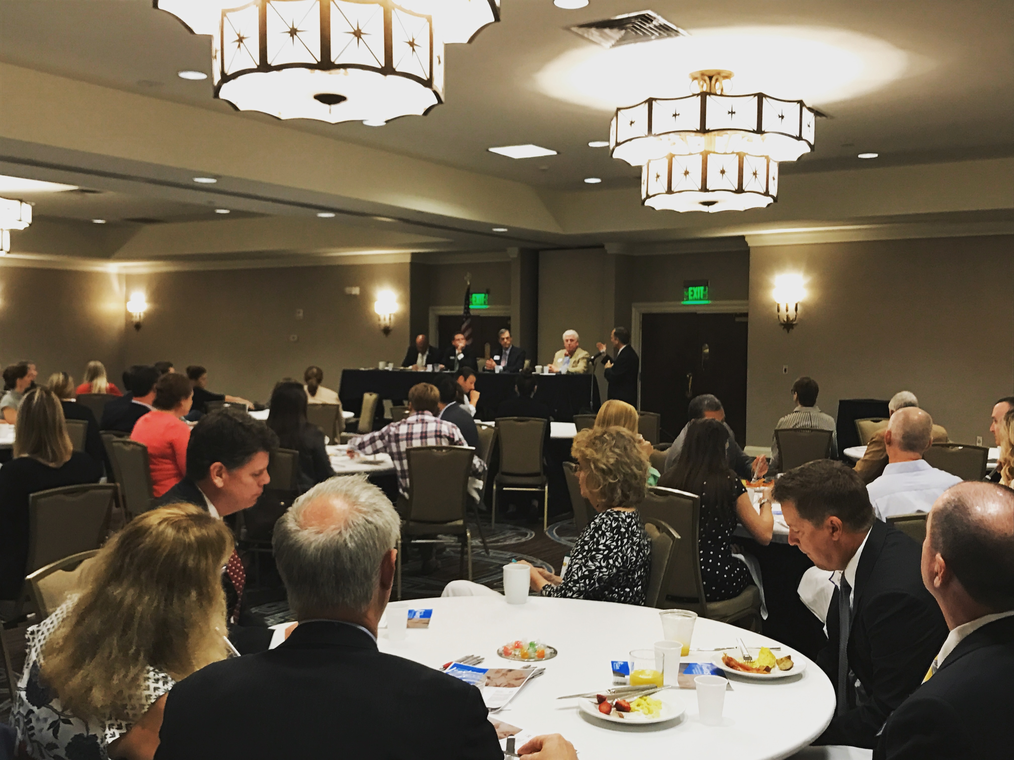 A packed room at the Charleston Marriott heard a panel of Lowcountry elected officials discuss some of the region's challenges.