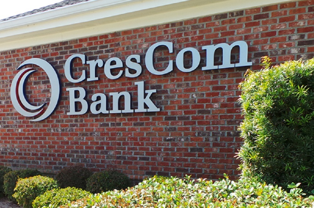 CresCom Bank will be the surviving bank following the merger.