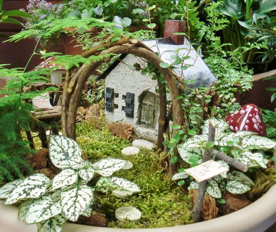 A fairy garden fits nicely on many a windowsill.