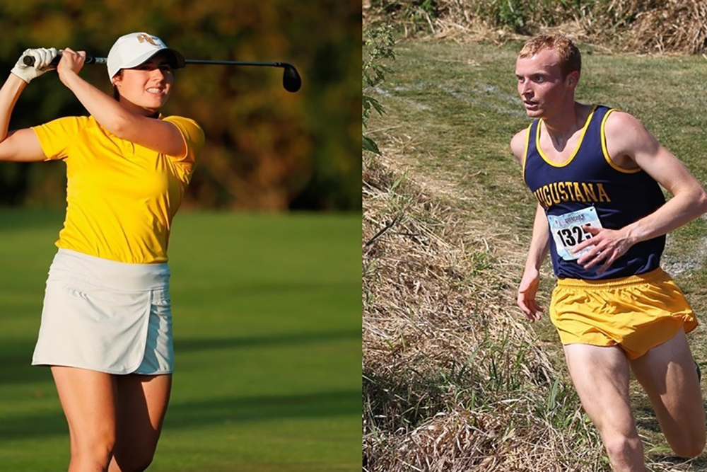 Jenna Lawrence and Mitchell Johnson received the Jack Schwartz award from the CCIW.