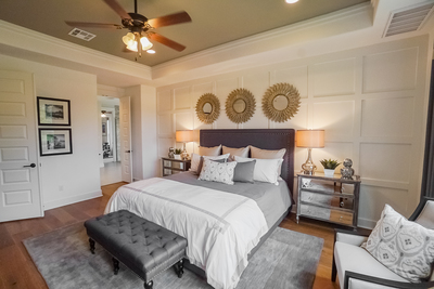 The Grand Endeavor Homes model home now open for touring features interior decorating by Mary DeWalt of the Mary DeWalt Design Group.