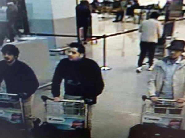 Three suspects of this morning's attacks at Brussels Airport, in Zaventem