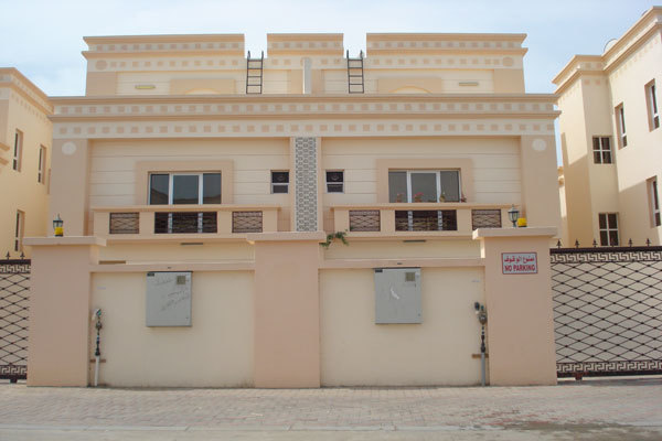 A twin villa is available in Ghubra