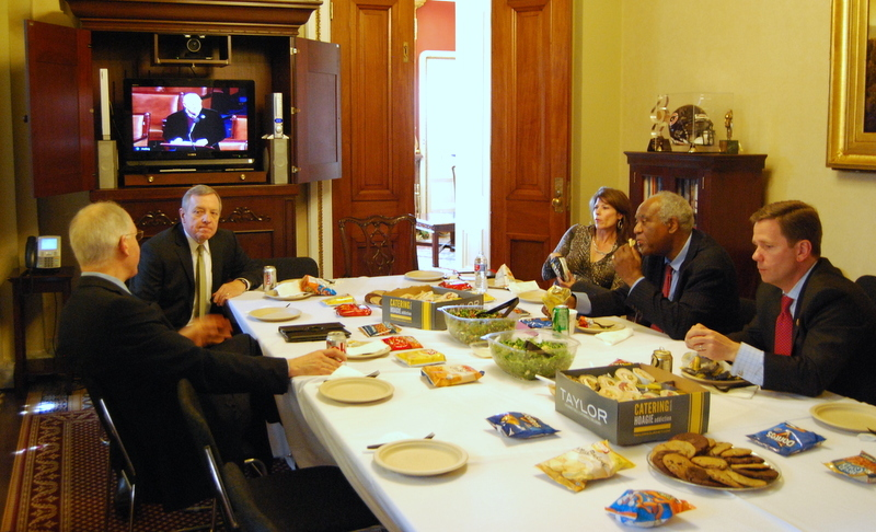 U.S. Sen. Dick Durbin (D-IL) hosts a luncheon for the Illinois Congressional Delegation.