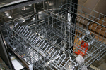 Finding rust is not uncommon in dishwashers with metal racks.