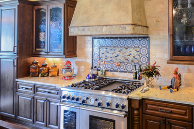With a little extra effort, a functional detail like a backsplash can become an artistic element.