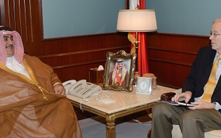 Bahrain foreign minister meets with U.S. ambassador