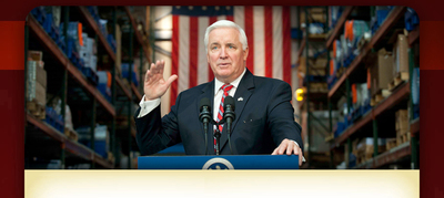 Gov. Tom Corbett said a federal program will help the state's disabled find work.