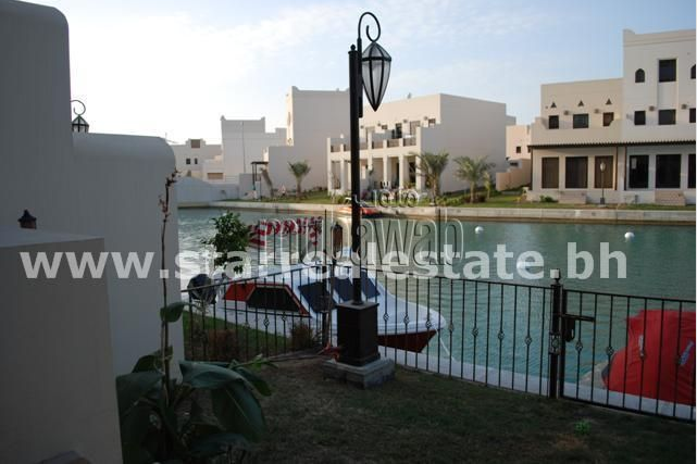 The view from a villa available on Amwaj Island
