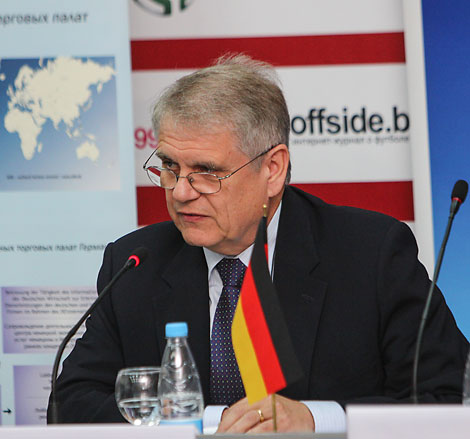 German envoy Wolfram Maas calls for stronger economic ties with Belarus.