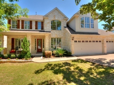 This stunning home is located in an established Austin neighborhood.