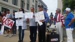 Rally held in support of Lavite; Veterans demand he be allowed back in administration building