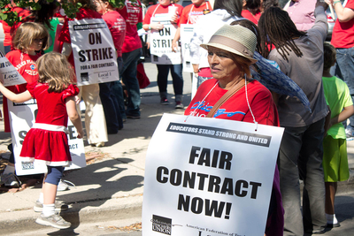 Thousands of Chicago Public Schools employees walked out this week on their third strike in the past seven years.