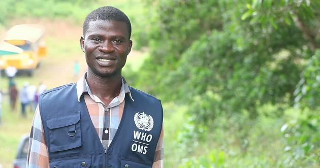 Liberian health care worker Austin Jallah contracted the Ebola virus after he gave medication to a person he didn't know had the virus.
