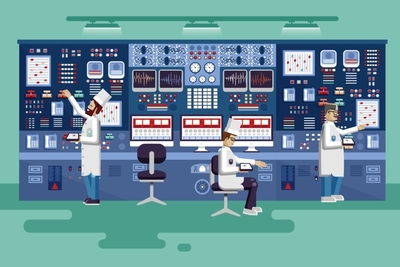 Medium shutterstock nuclear plant workers toon