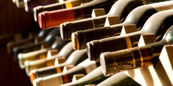 Large winebottles