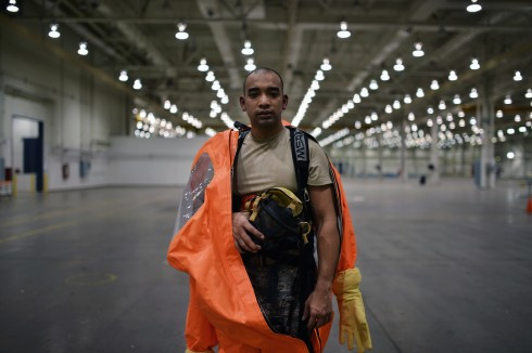 New York Air National Guard Airman First Class Bryan Chang is participating in a two-week CBRN training exercise in Perry, Georgia.