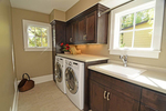 There's no reason a laundry room cannot be aesthetically pleasing as well as functional.