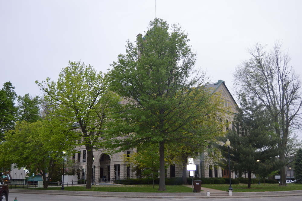 Christian County Courthouse in Taylorville, a city in which residents are projected to experience a $3,486,351 increase in taxes this year.