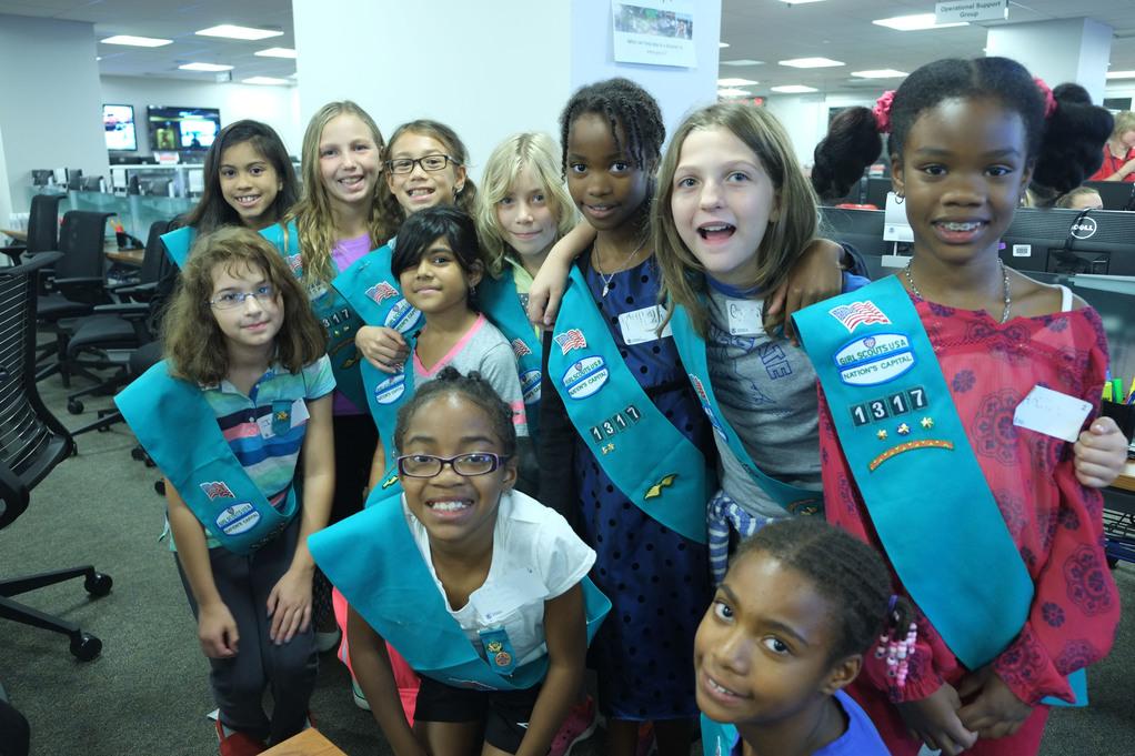 Participants at FEMA's Girl Scouts Preparedness Day