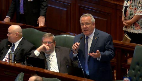 Rep. Steve Anderson (R-Geneva) debating SB3109 on the House floor.