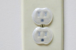 Outlet covers are a quick and easy way to keep children safe from electric shock.