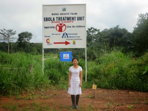 Healthcare worker Kwan Kew Lai at an Ebola Treatment Unit in Liberia in October. Lai went through training through the CDC in Anniston, Ala. before heading to West Africa.