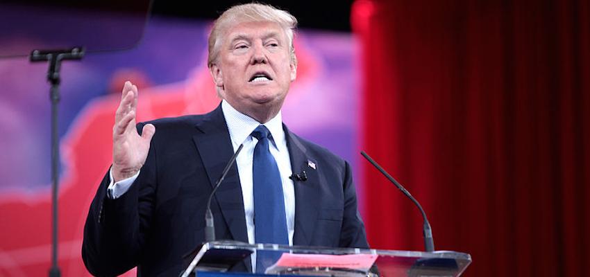 Republican presidential contender Donald Trump