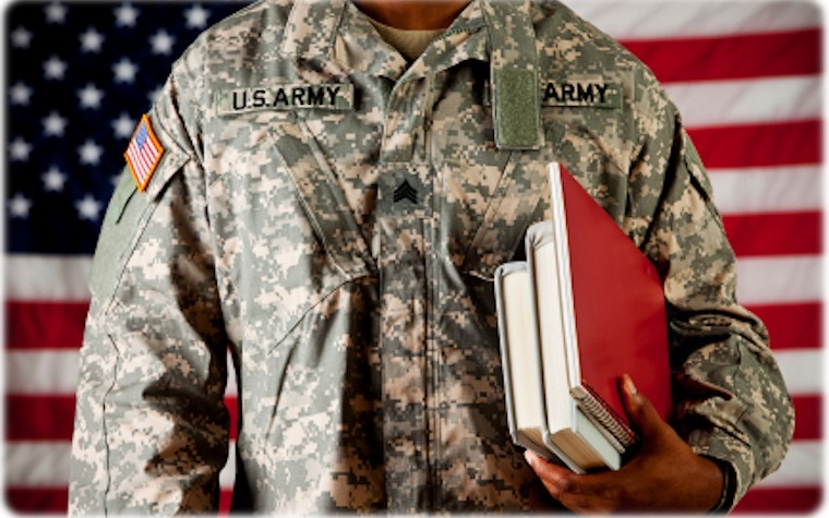 Ashford University offers a grant that waives technology fees and e-book costs for military students.