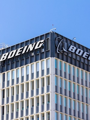 Large boeing sign