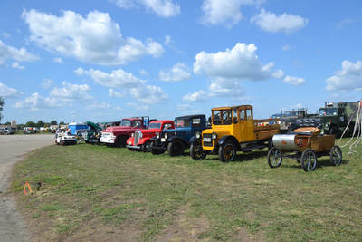 Some of the vintage farm tractors at the Half Century of Progress show