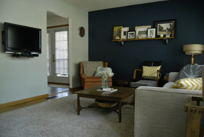 Accent walls are a simple way to add variety to an interior.